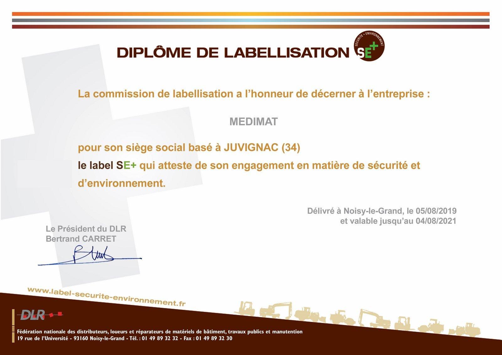 label SE+ MEDIMAT 2019